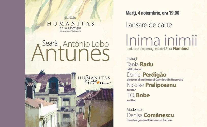 Seară Antonio Lobo Antunes la Humanitas Cişmigiu