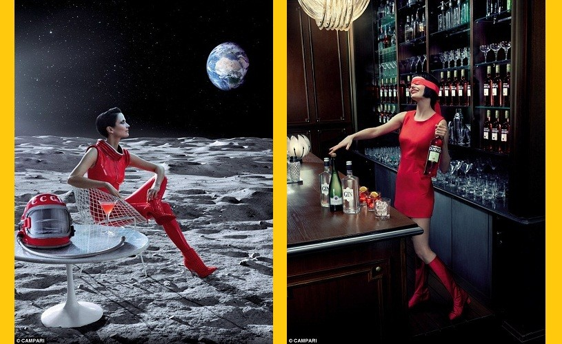 Eva Green, protagonista calendarului Campari 2015