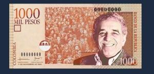Gabriel Garcia Marquez, pe bancnotele columbienilor