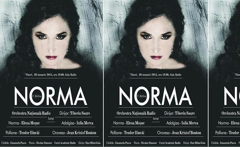 NORMA, cu Elena Moşuc, la Sala Radio!