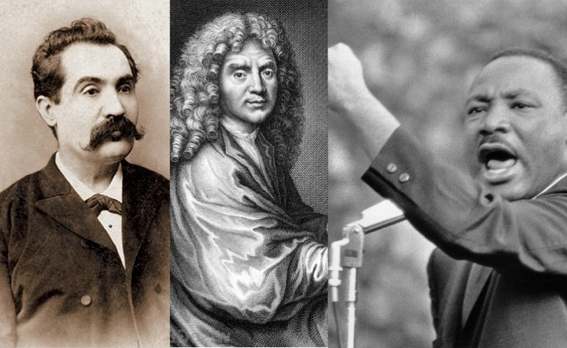 15 ianuarie, semnificaţii istorice – Eminescu, Moliere, Martin Luther King