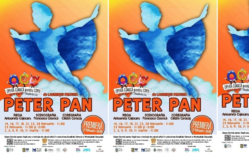 Peter Pan, premiera Operei Comice pentru Copii