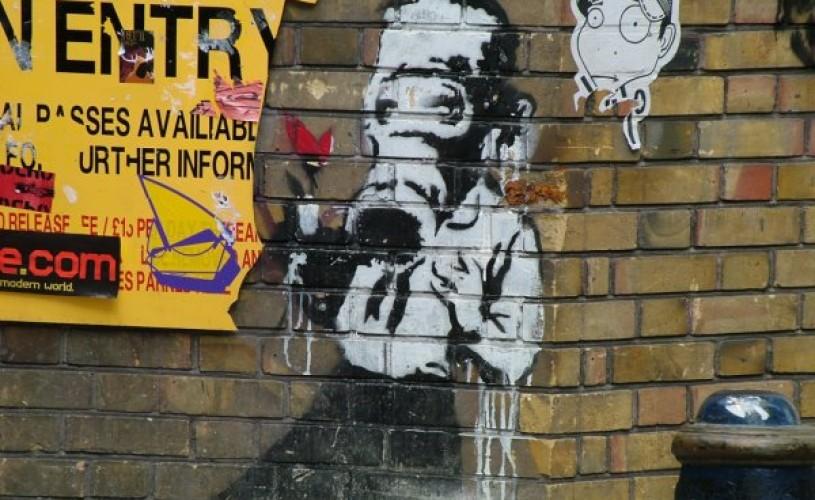Desene de Banksy, vândute la licitaţie cu aproape 580.000 de euro