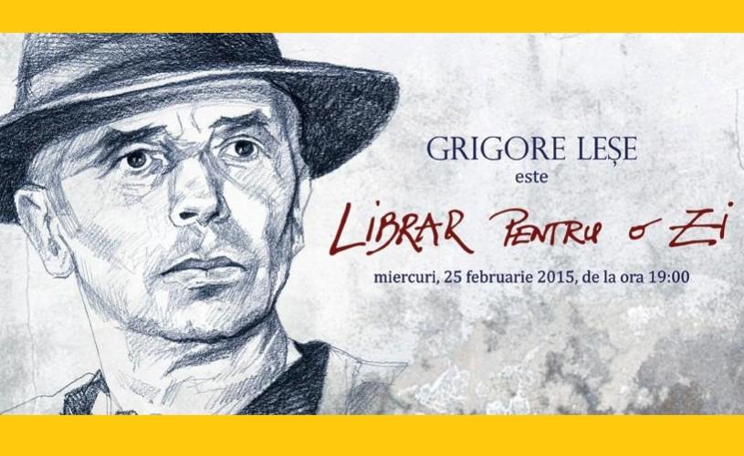 """Grigore Leşe, """"librar pentru o zi"""", la librăria Bizantină"""