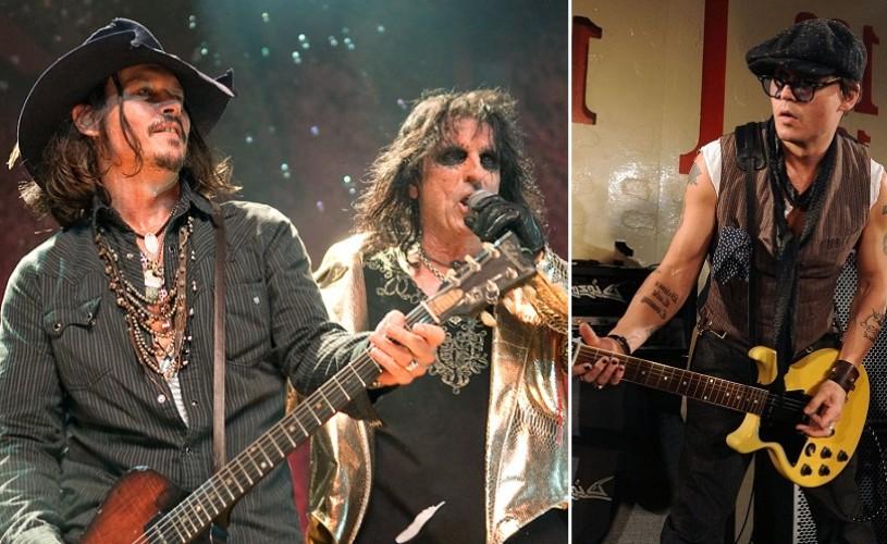 Alice Cooper si Johnny Depp au înfiinţat un grup rock