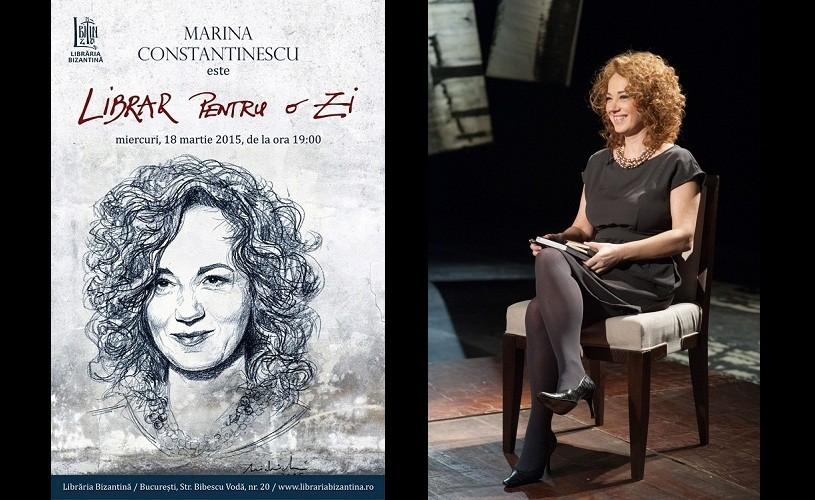 "Marina Constantinescu, ""librar pentru o zi"""