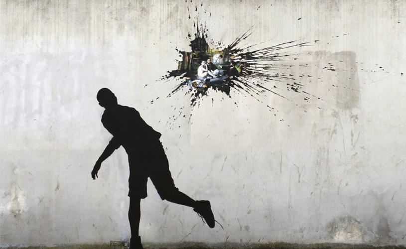 Desenele lui Pejac transformă străzile Europei în poezie