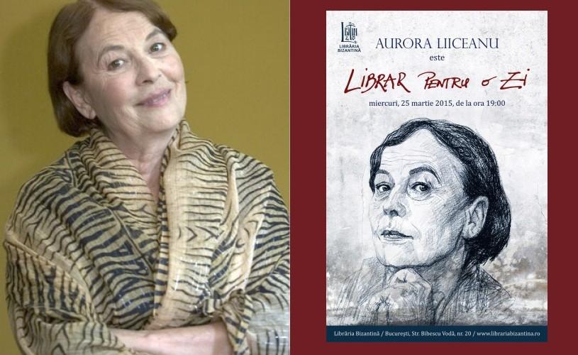 """Aurora Liiceanu va fi """"librar pentru o zi"""""""