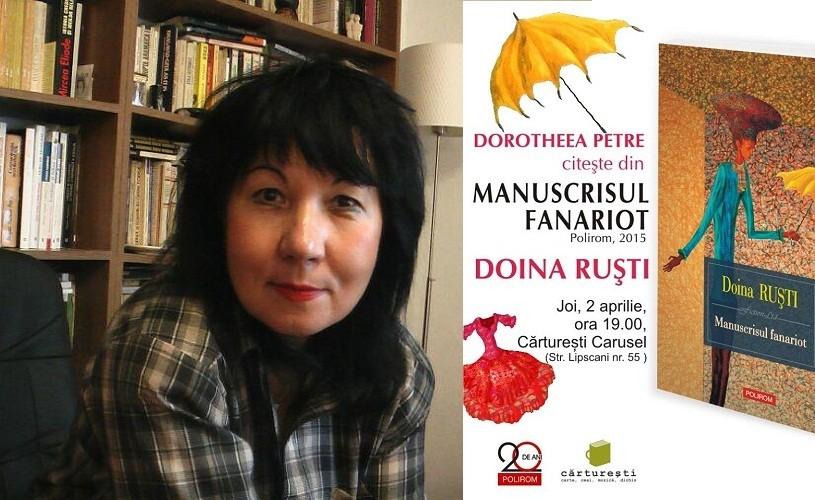 Manuscrisul fanariot, un nou volum de Doina Ruşti