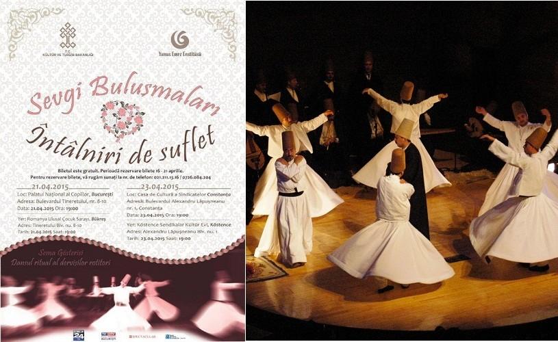 Dansul ritualic al dervişilor rotitori, în premieră în Bucureşti