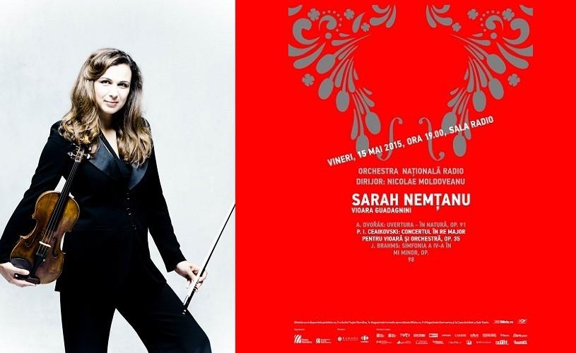 """Ceaikovski, la Sala Radio, cu Sarah Nemtanu, violonista filmului """"Concertul"""""""