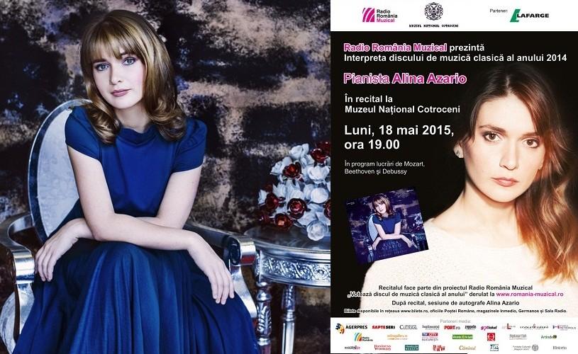 Alina Azario, interpreta discului de muzică clasică al anului 2014, în recital la Bucureşti