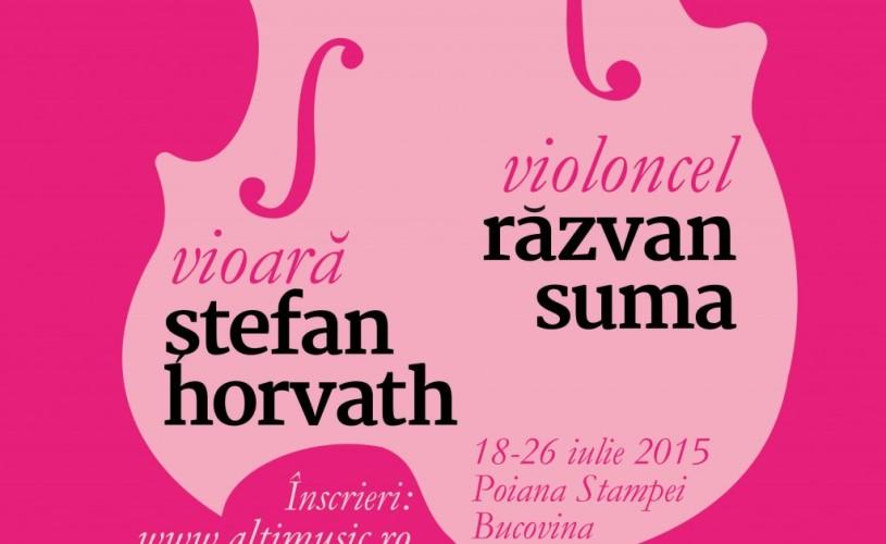 """""""Muzica la Altitudine"""", cu violoncelistul Răzvan Suma şi violonistul Ştefan Horvath"""