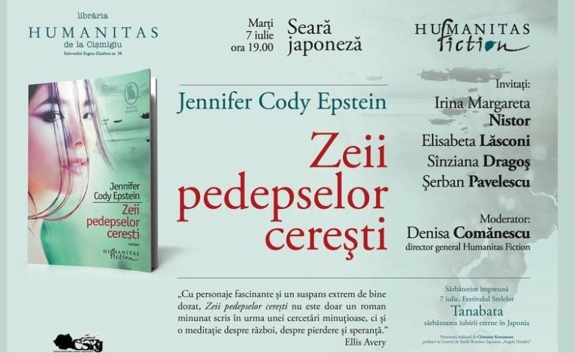 """Seară japoneză – """"Zeii pedepselor ceresti"""", de Jennifer Cody Epstein, la Humanitas – Cişmigiu"""
