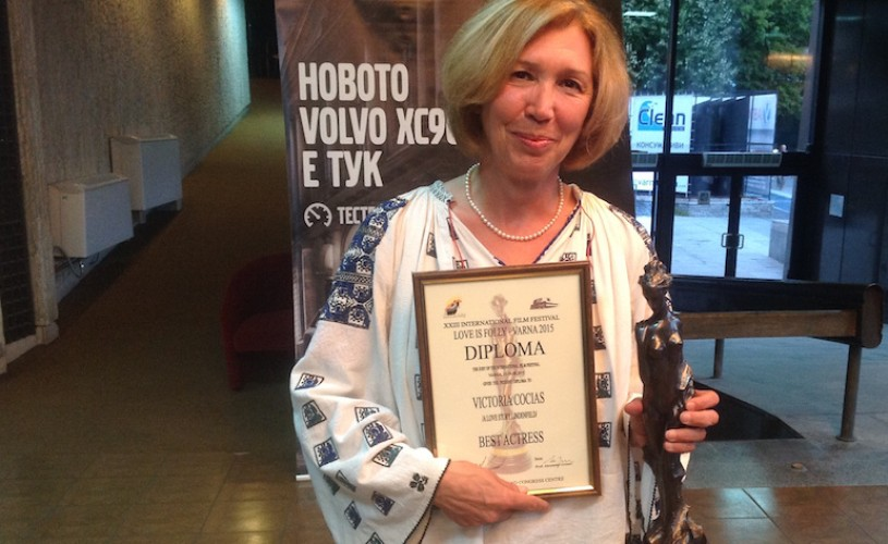 """Victoria Cociaș – """"Cea mai bună actriță"""" la Festivalul Internațional de Film de la Varna, Bulgaria"""