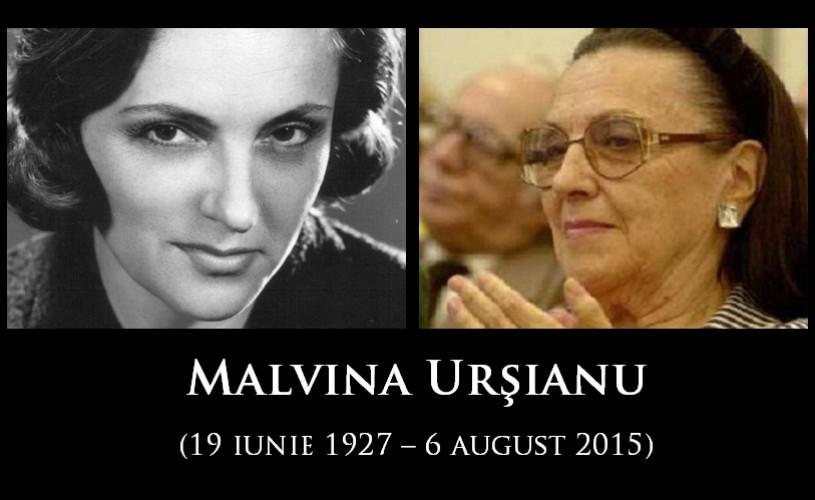 Malvina Urşianu s-a stins din viaţă. Regizoarea avea 88 de ani