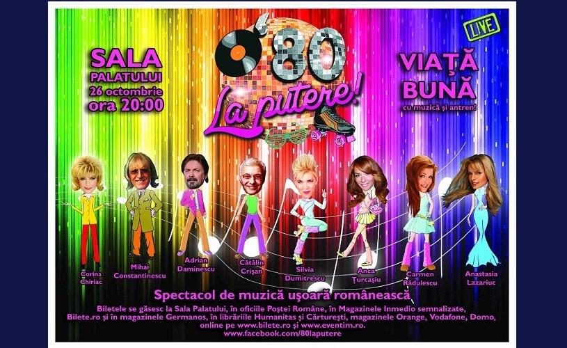 80 la putere! – Muzica usoară românească revine la Sala Palatului!