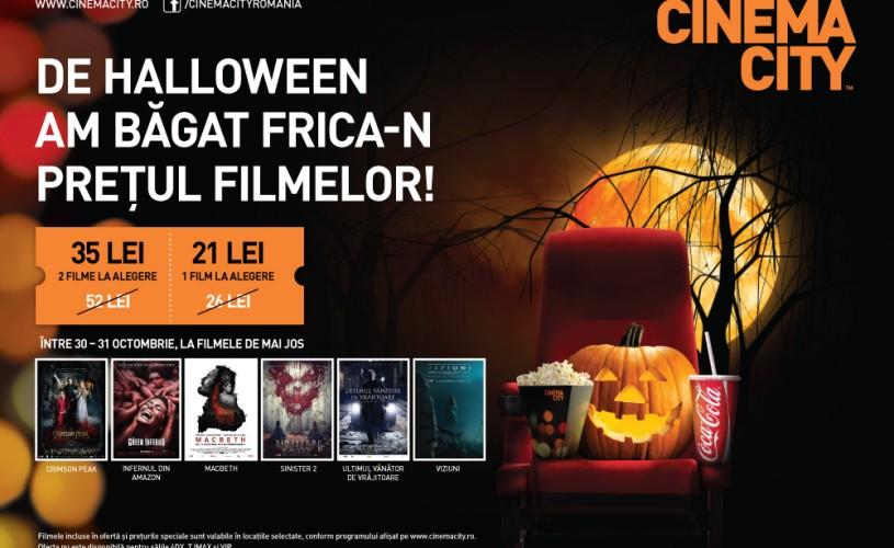 De Halloween, CINEMA CITY a băgat frica-n preţul filmelor