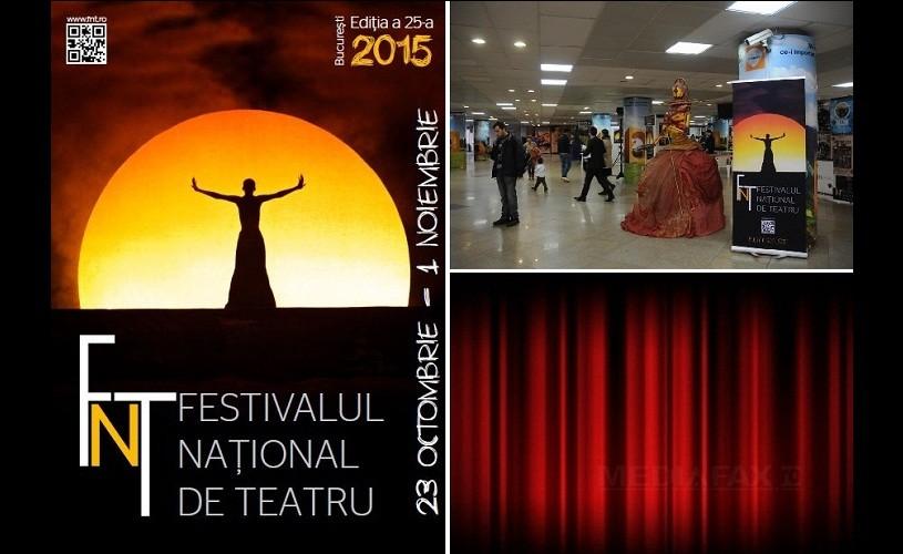 Pasajul Universităţii se transformă într-un loc dedicat teatrului şi actorilor. FNT 2015