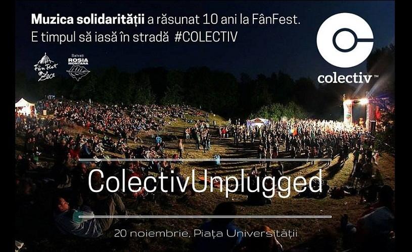 """""""Colectiv Unplugged"""": Concert în memoria victimelor incendiului, în Piaţa Universităţii"""