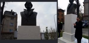 Monument dedicat lui Emil Cioran, dezvelit la București