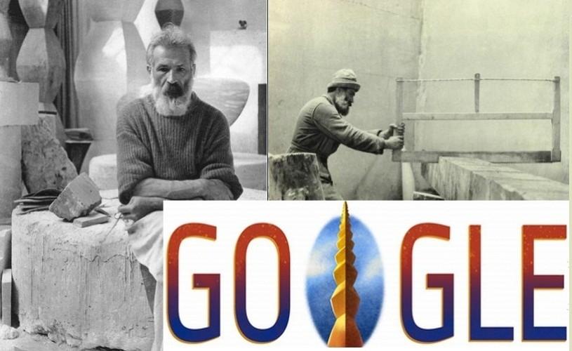 """Google sărbătoreşte Ziua Naţională a României printr-un logo în care apare """"Coloana Infinitului"""""""