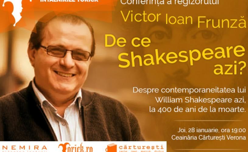 Victor Ioan Frunză vine astăzi la Întâlnirile Yorick, la Ceainăria Cărturești Verona