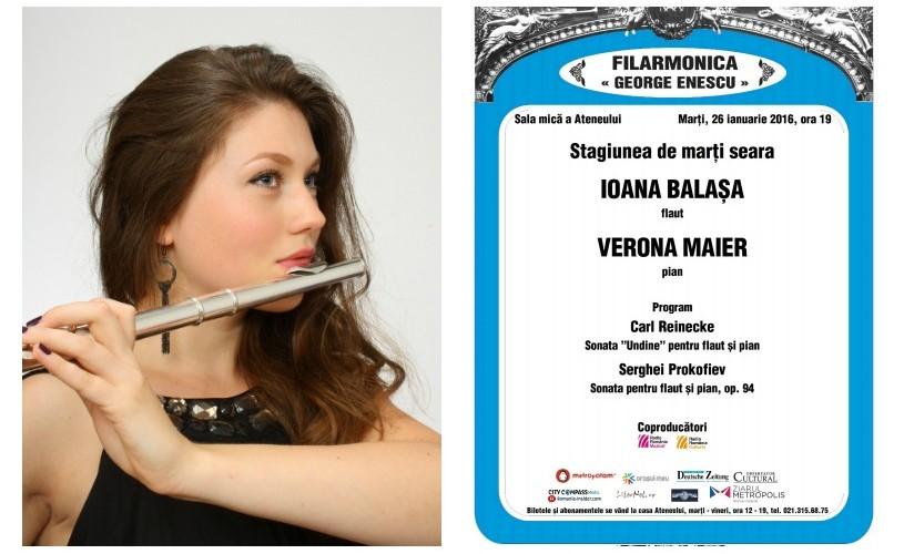 Recital de flaut cu Ioana Balașa, la Ateneul Român