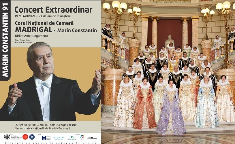 91 de ani de la naşterea Maestrului Marin Constantin – Concert Extraordinar