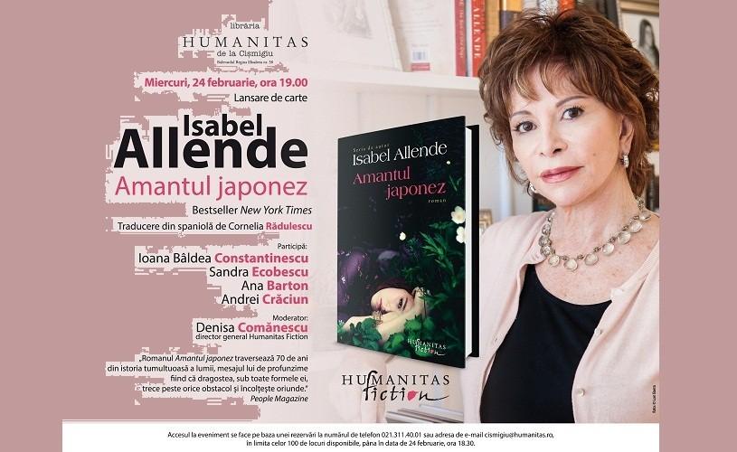 Amantul japonez, un nou roman de Isabel Allende, la Humanitas Cişmigiu