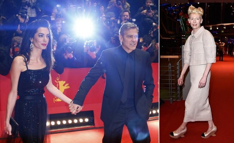 Soții Clooney și coafura Tildei Swinton au atras toate privirile pe covorul roșu. Berlinala 2016