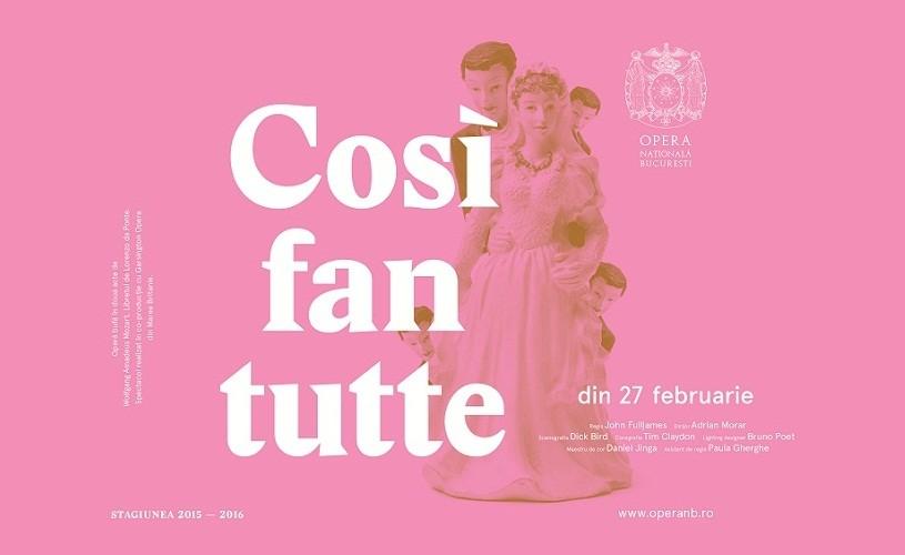 """""""Così fan tutte"""" de W. A. Mozart, pe scena Operei Naționale București"""