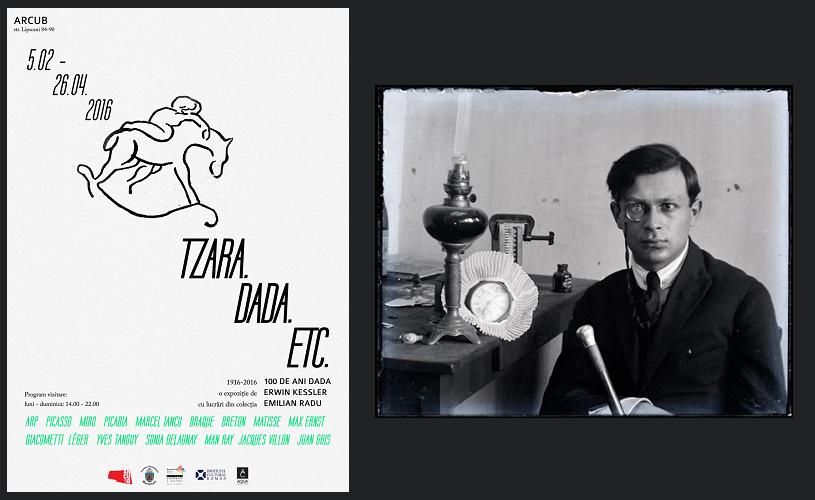 100 de ani de dadaism celebrați la ARCUB printr-o expoziție unicat: TZARA. DADA. ETC.