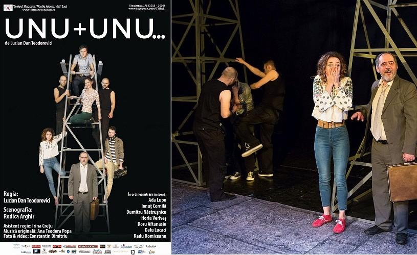 Unu + unu…, de Lucian Dan Teodorovici, în premieră la Naţionalul din Iaşi