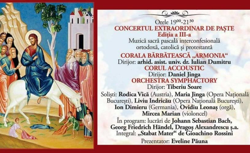 Concertul Extraordinar de Paste, reprogramat în Joia Mare
