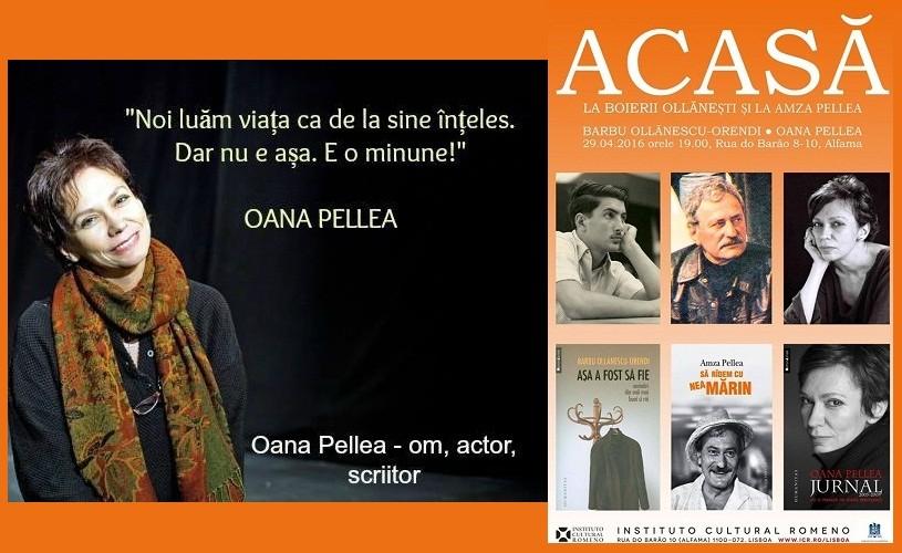 """Oana Pellea, la Serile """"Acasă"""" de la ICR Lisabona"""