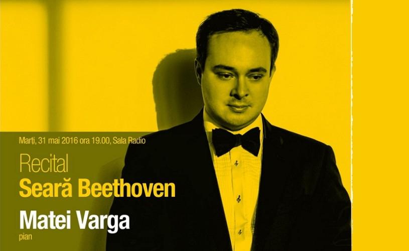 Ultimele trei sonate de Beethoven cu Matei Varga, la Sala Radio
