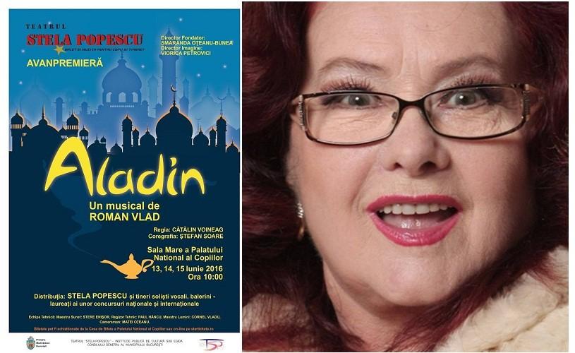 Lampa lui Aladin ajunge la Teatrul Stela Popescu