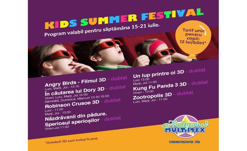 Kids Summer Festival, la Hollywood Multiplex!