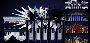 Video-mapping inspirat de muzica lui Enescu pe fațada Ateneului