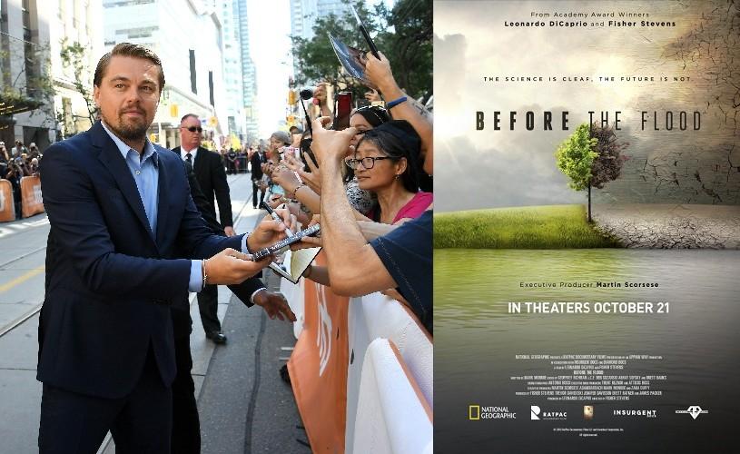 """Leonardo DiCaprio și-a lansat documentarul """"Înainte de potop"""""""