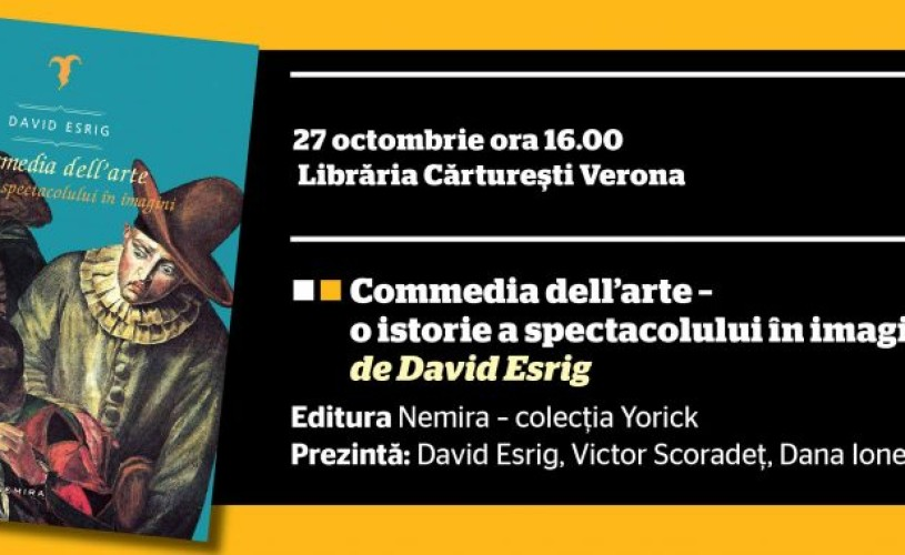 "David Esrig lansează ""Commedia dell' arte"" la FNT"