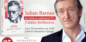 Julian Barnes în dialog cu Cătălin Ștefănescu la Humanitas Cișmigiu