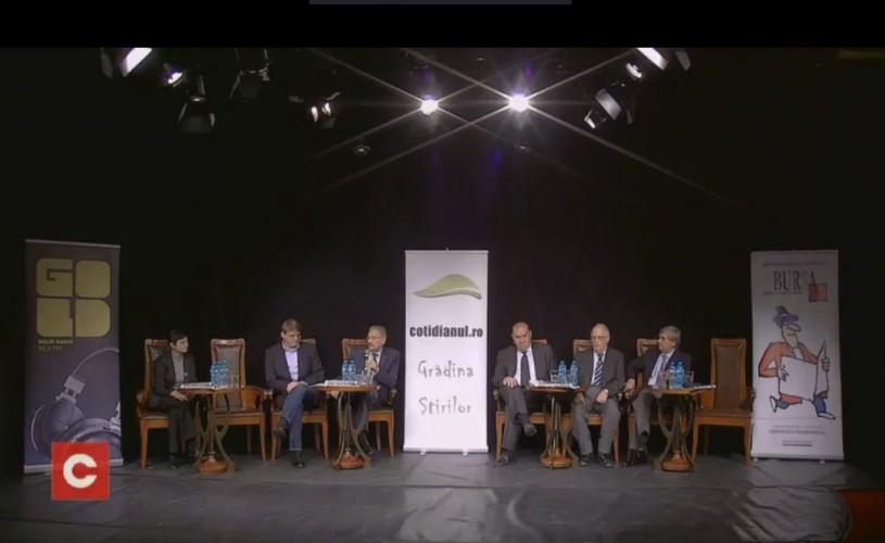 """VIDEO Dezbatere la Teatrul Metropolis:""""Blocajul României şi reconcilierea naţională"""""""