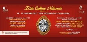 Ziua Culturii Naționale și deschiderea Centenarului Dinu Lipatti, la Centrul Cultural Casa Artelor