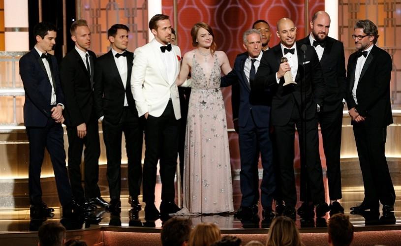 """""""La La Land"""", cel mai laureat film din istoria Globurilor de Aur"""