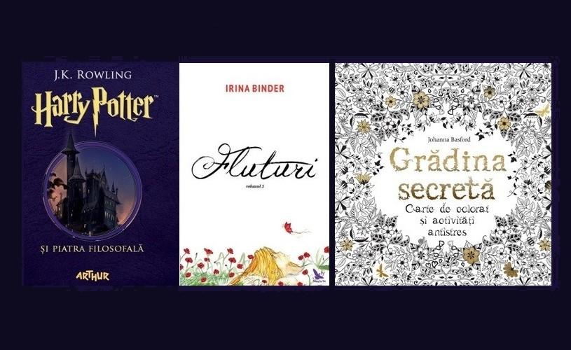 """Top vânzări 2016: Harry Potter, """"Fluturii"""" Irinei Binder și cărțile de colorat pentru adulți"""