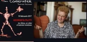 Vernisaj la Conferintele TNB. Georgeta Filitti va vorbi despre : ION GHICA, un ctitor al teatrului românesc