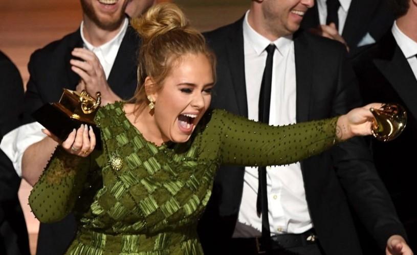 Premiile Grammy 2017. Adele, marea câştigătoare a galei
