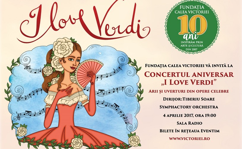 "Concert aniversar ""I Love VERDI"": arii și uverturi din opere celebre"
